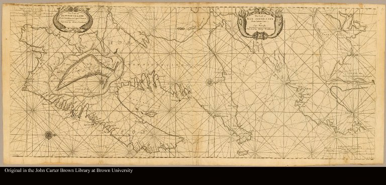 The coast of New-Found-Land from Cape Raze to Cape St. Francis described by Henry Southwood ; and, The coast of New-Found-Land from Salmon Cove to Cape Bonavista described by Henry Southwood, Anno 1675