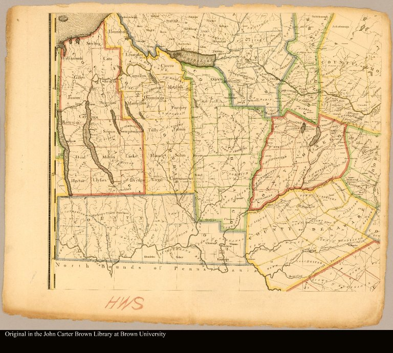 [middle left: map of New York]