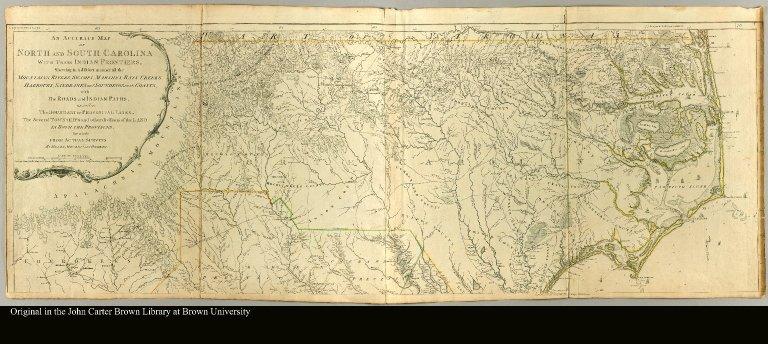 [top half of a map of North and South Carolina]