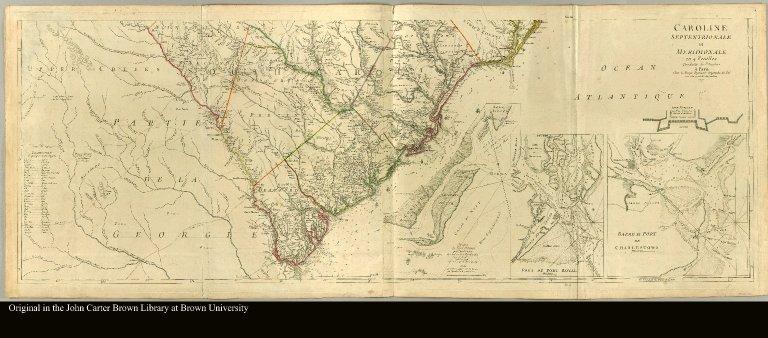 [bottom half: map of South Carolina]