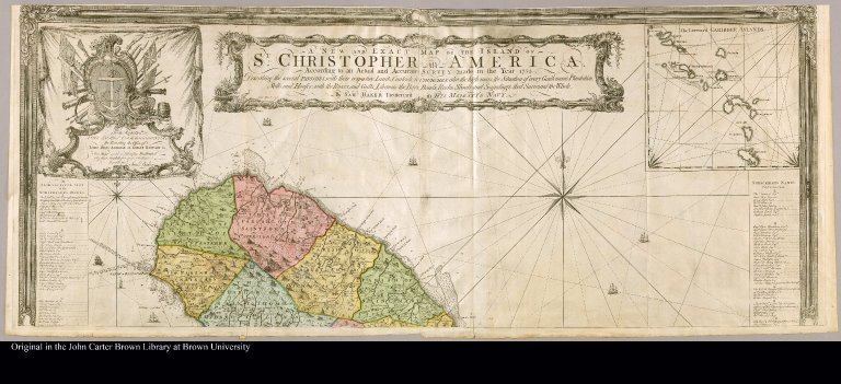 [top half of map of the island of St. Christopher]