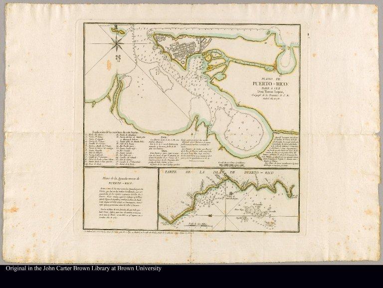 Plano de Puerto-Rico: Dale a Luz, geógrafo de los dominios de S. M.