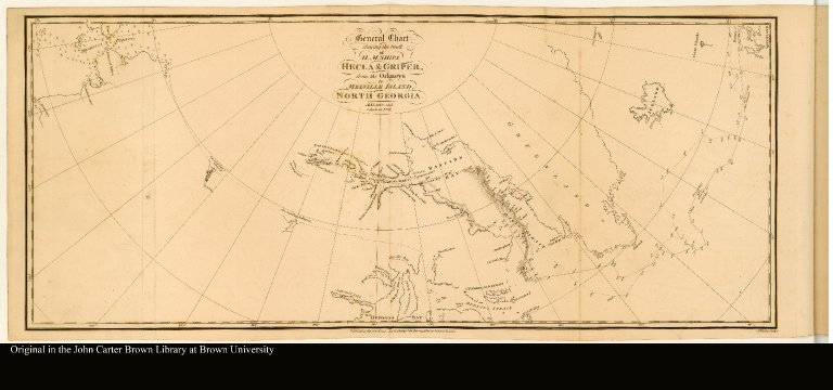 General Chart shewing the track of H. M. Ships Hecla & Griper, from the Orkneys to Melville Island, North Georgia. A.D. 1819, and return in 1820.