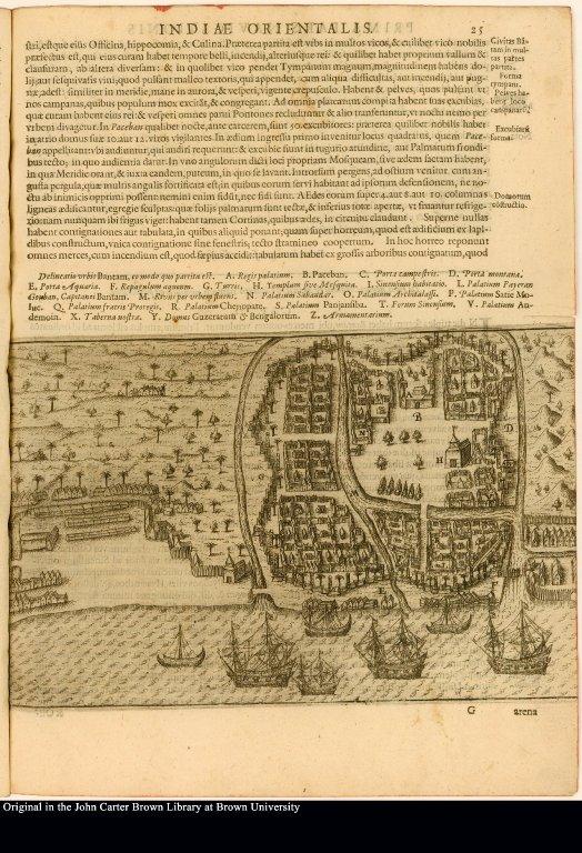 [Plan of the city of Bantam]