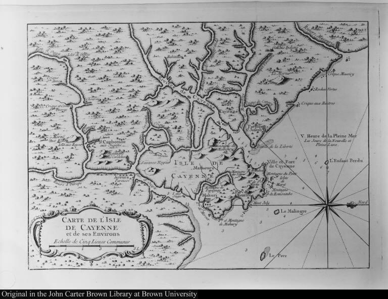 Carte de l'Isle de Cayenne