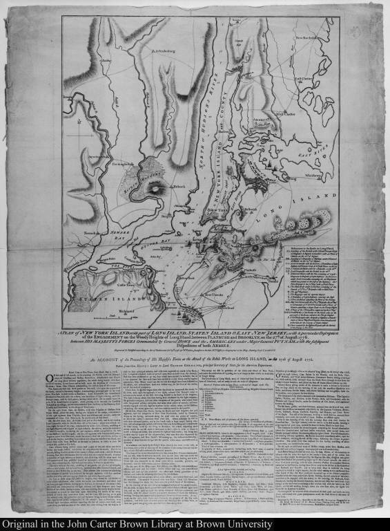 A Plan of New York Island with part of Long Island, Staten Island & East New Jersey, with a particular Description of the Engagement on Woody Heights of Long Island...