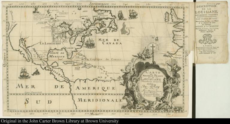 Carte de la Nouvelle France et de la Louisiane Nouvellement decouverte