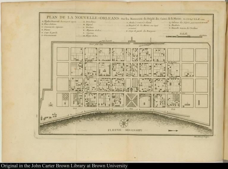 Plan de la Nouvelle-Orleans Sur les Manuscrits du Dépôt des Cartes de la Marine