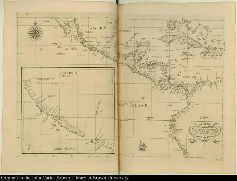 Carta prima Generale d'America dell' India Occide[n]tale è Mare del Zur.