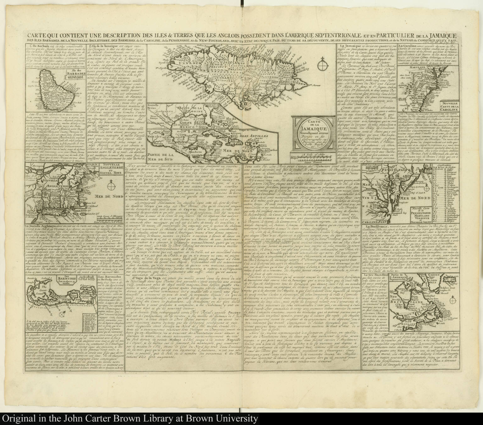Anglois carte qui contient une description des iles & terres que les