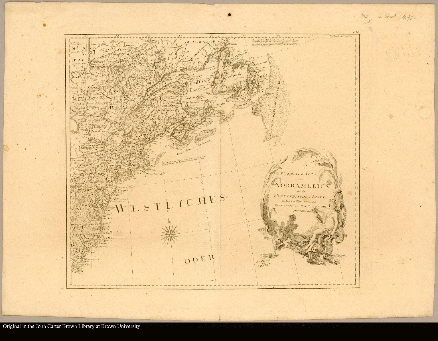 Sheet 20 [Map of eastern North America]