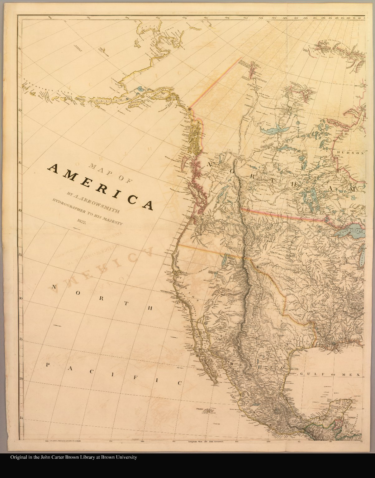 North America Map 1750.Map Of The Western Part Of North America From Alaska To Guatemala