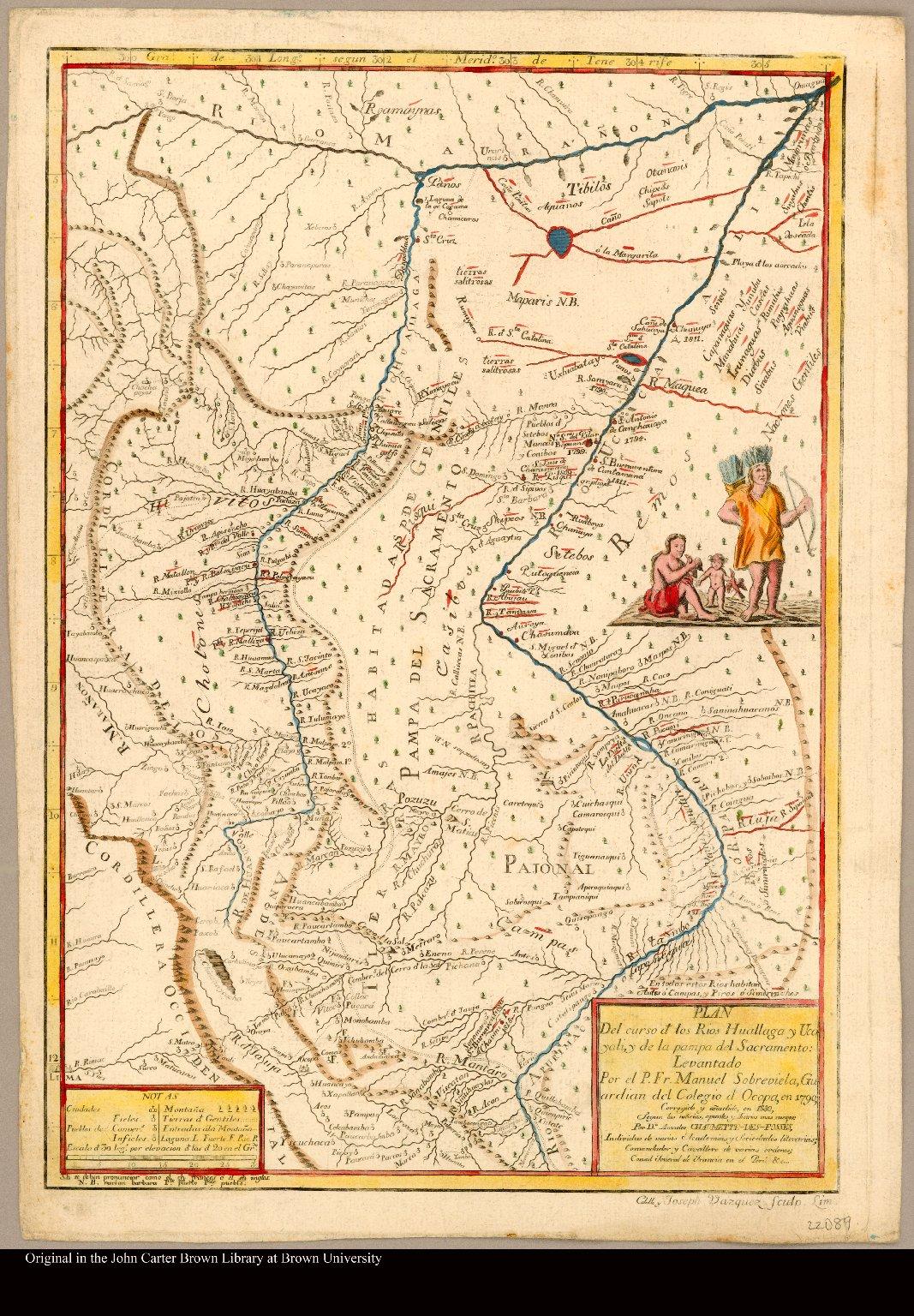 Plan del curso de los Rios Huallaga y Ucayali, y de la pampa