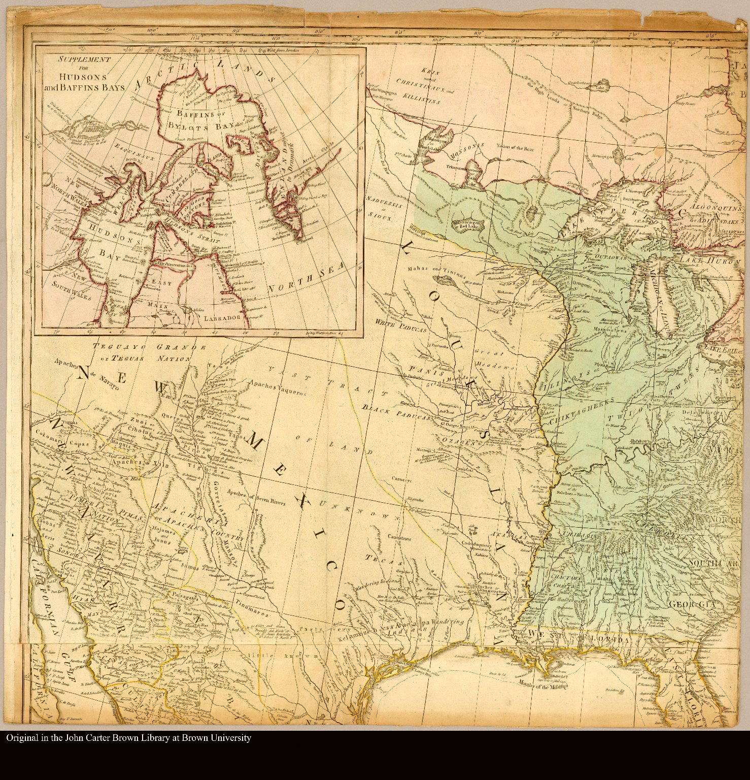 North America Map Mississippi River.Map Of North America Showing The Mississippi River And Great Lakes