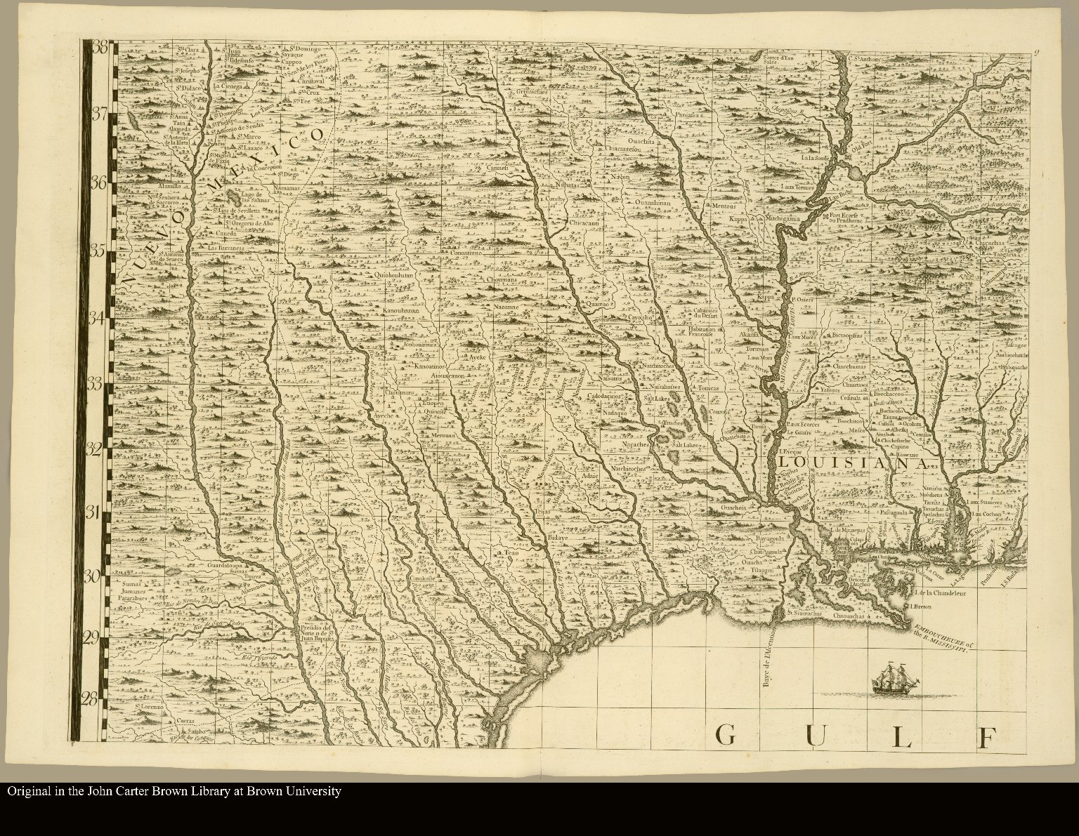 North America Map Mississippi River.North America Showing The Mouth Of The Mississippi River And The
