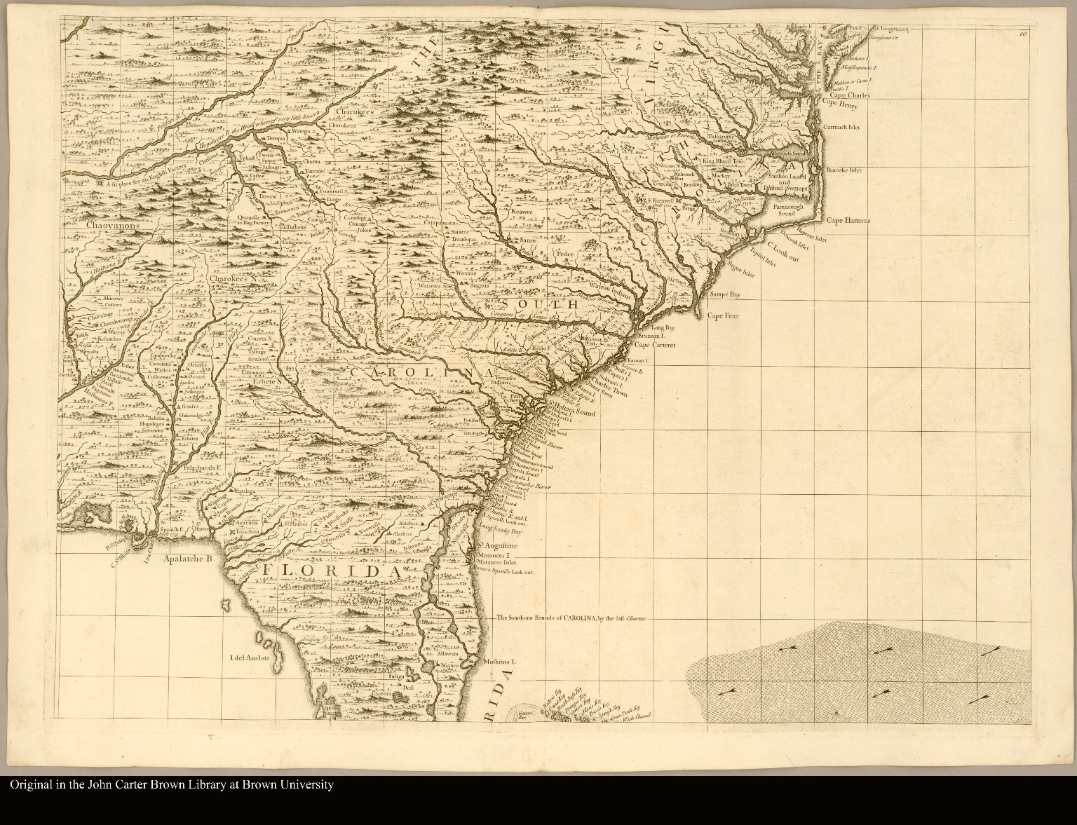 [Southeastern North America showing the coast from Virginia to Florida]