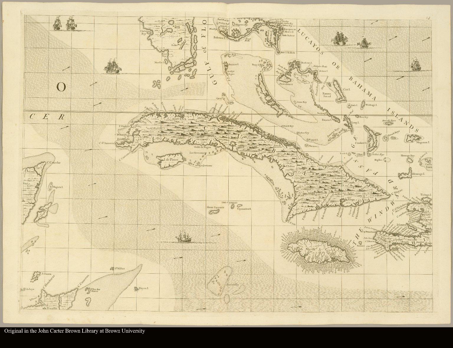 [Caribbean islands, showing Cuba and upper Antilles]