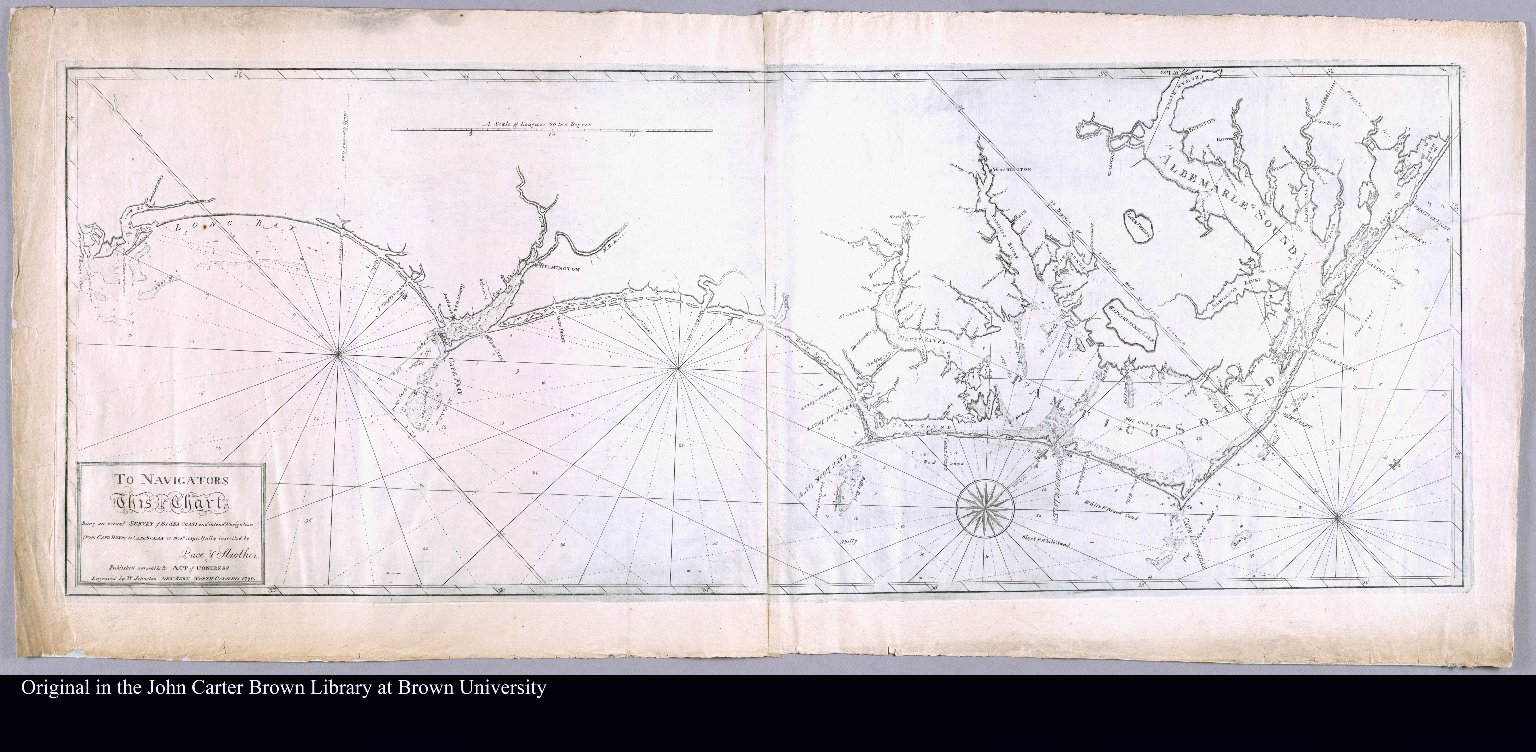 To navigators this chart being an actual survey of the sea coast and inland navigation from Cape Henry to Cape Roman is most respectfully inscribed by Price & Strother