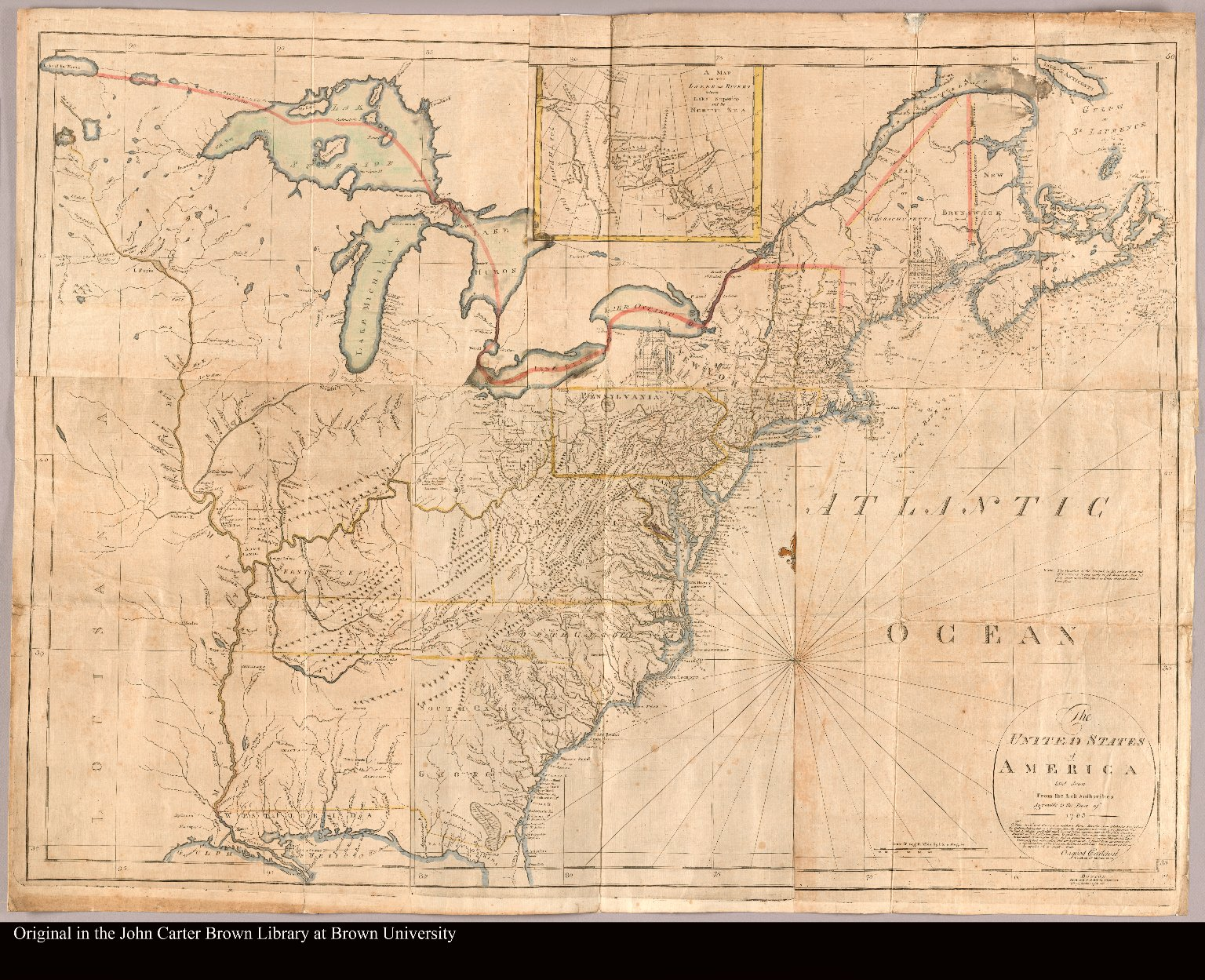 The United States of America laid down from the best authorities agreeable to the peace of 1783