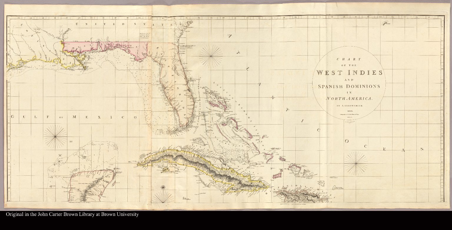 [Map of Florida and the Caribbean islands]