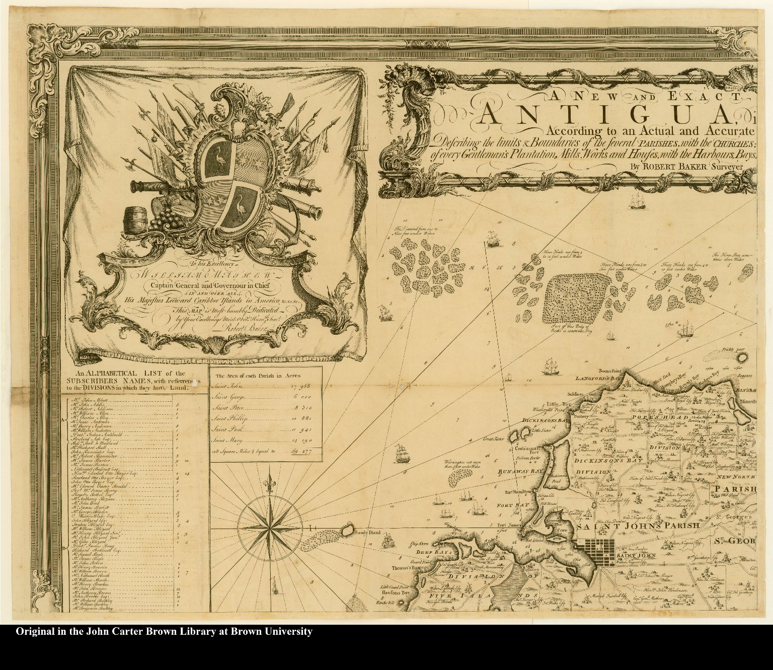 [upper left] [Northwest section of a map of Antigua]