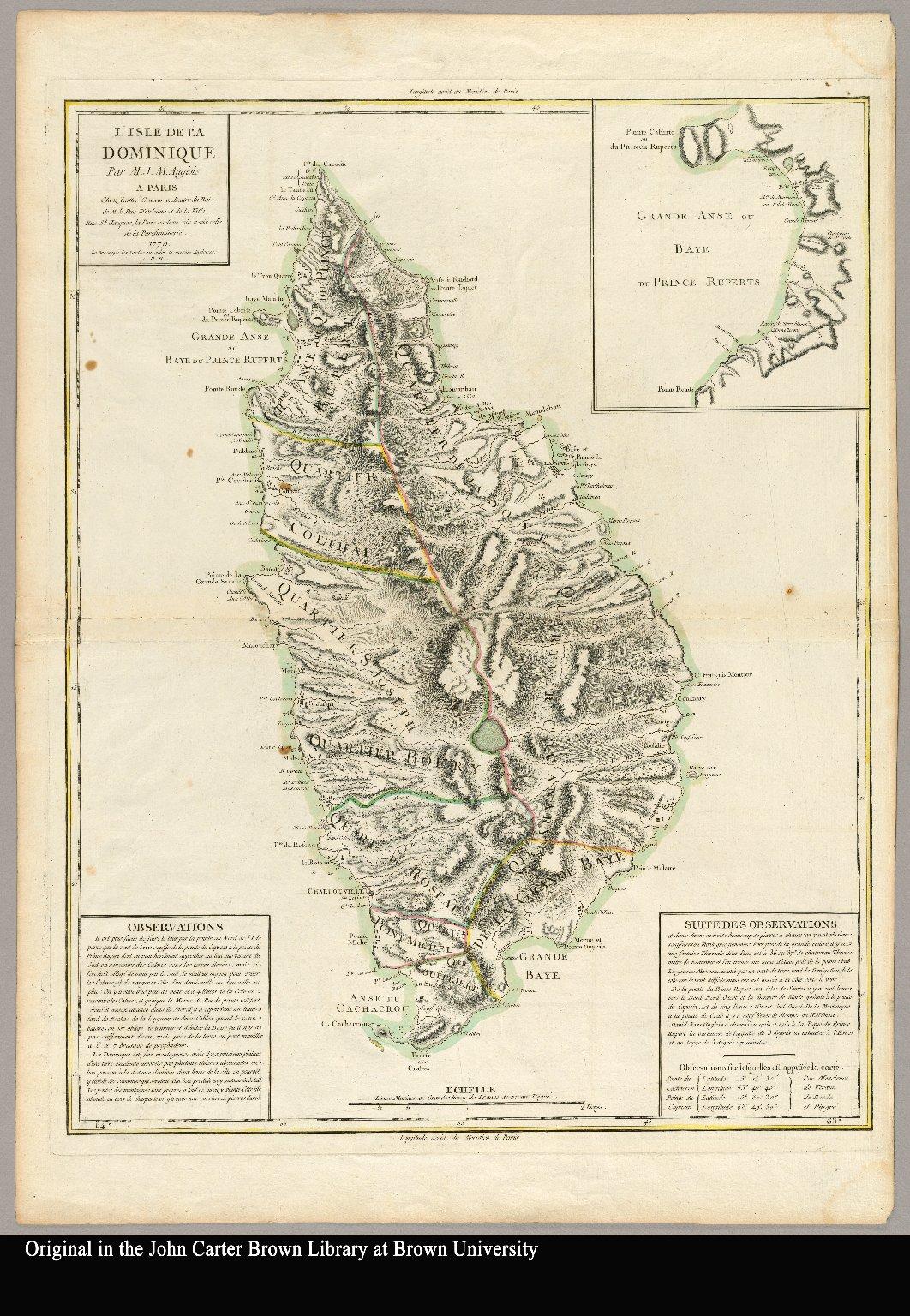 L'isle de la Dominique par M.J.M. Anglois - JCB Map Collection on