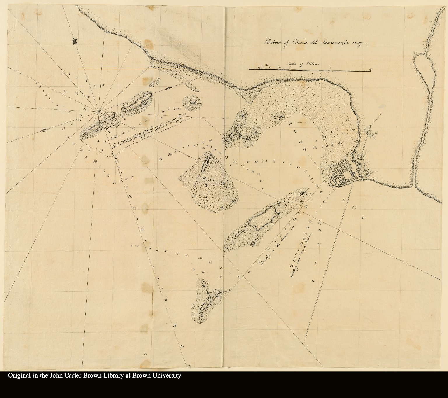 Map 16] Harbour of Colonia del Sacramento 1807 - JCB Map Collection