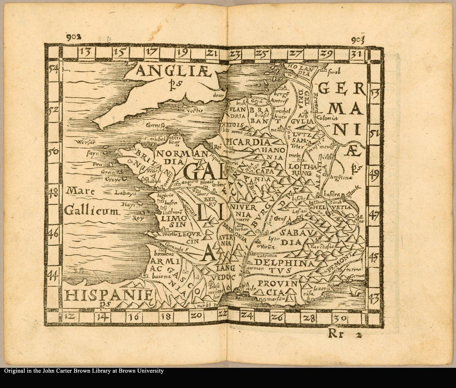 [France] Galliae tabula [title on verso]