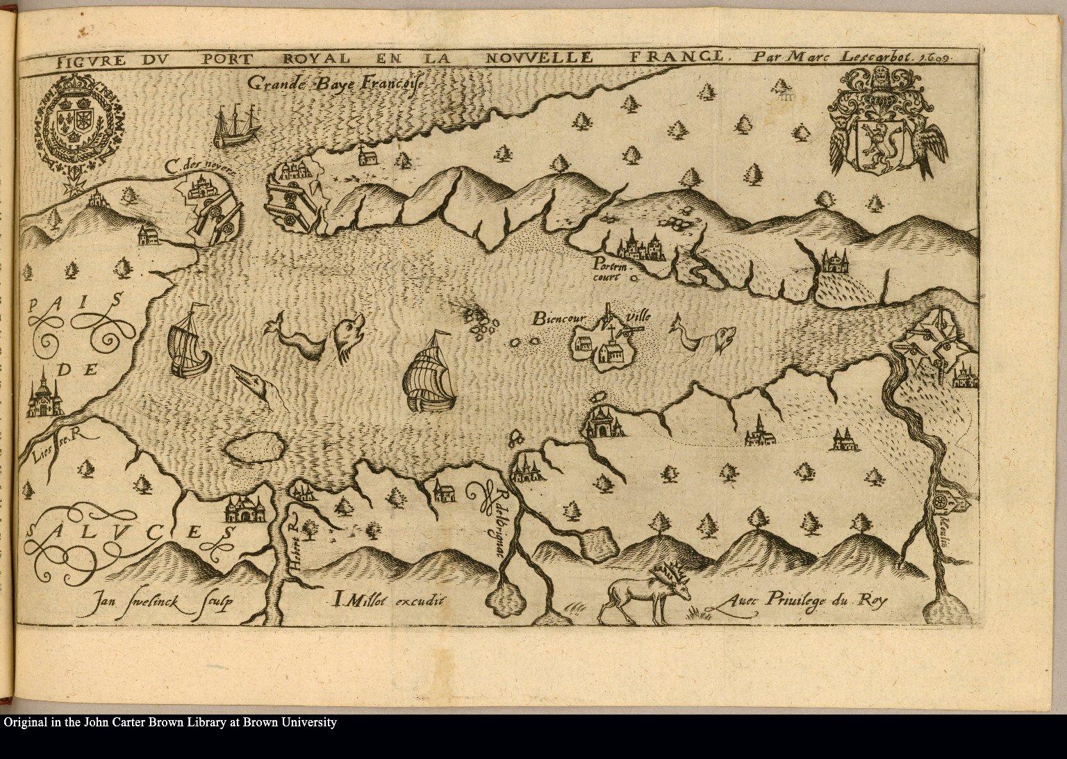 Figvre dv Port Royal en la Nouvvelle France