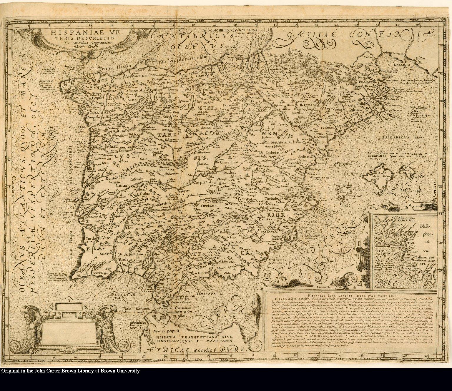 Hispaniea veteris descriptio ex conatibus geographicus Abrah. Ortely