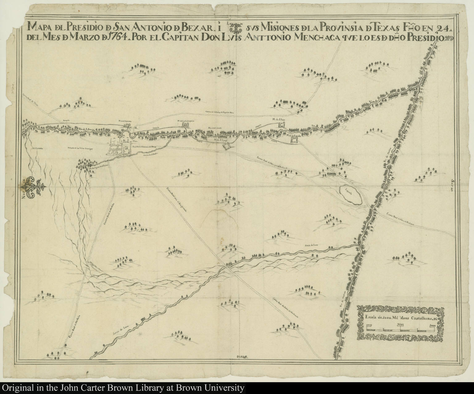 Mapa D E L Presidio D E San Antonio D E Bexar I Sus