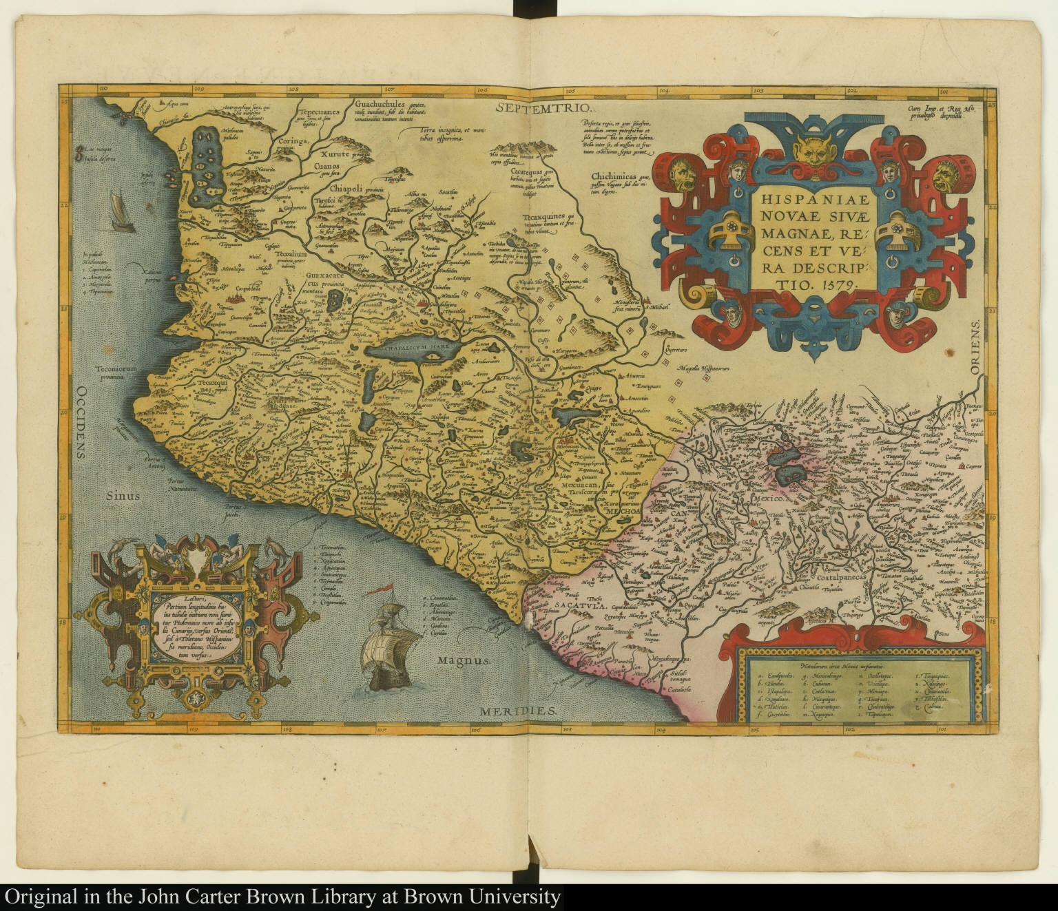 Hispaniae novae sivae magnae, recens et vera descriptio. 1579.