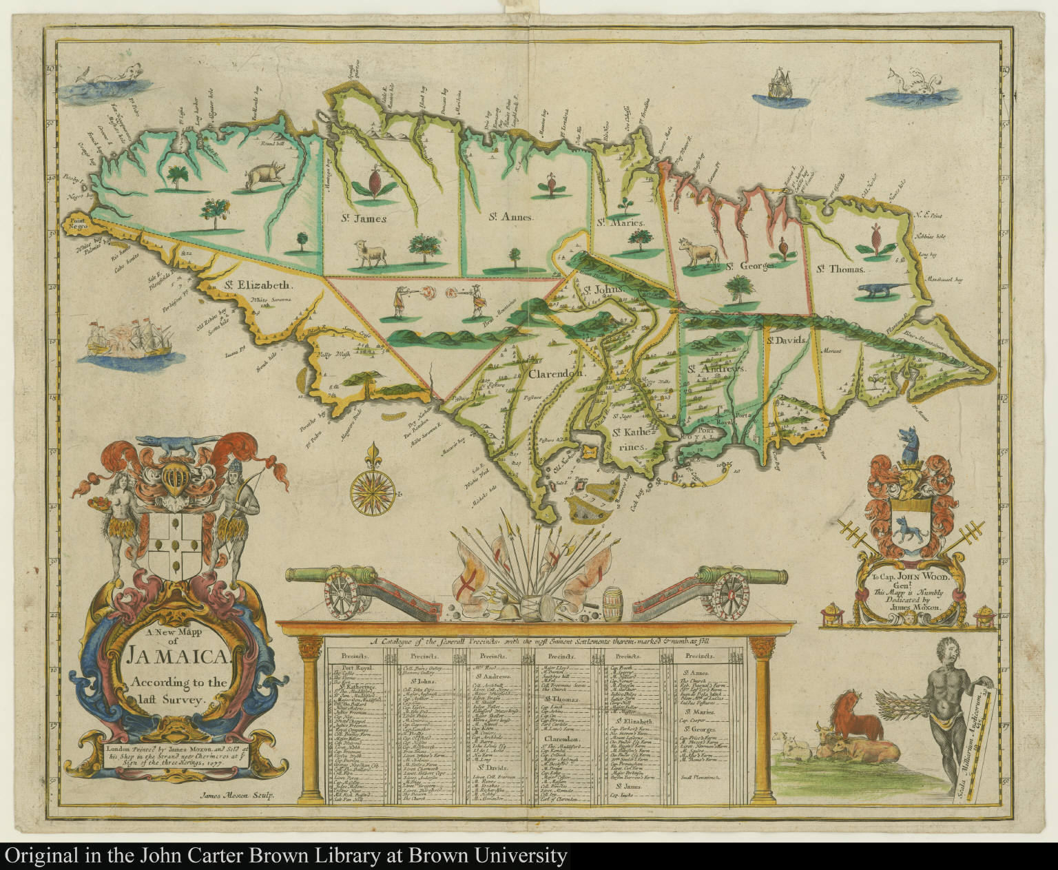 A New Mapp of Jamaica. According to the last Survey.