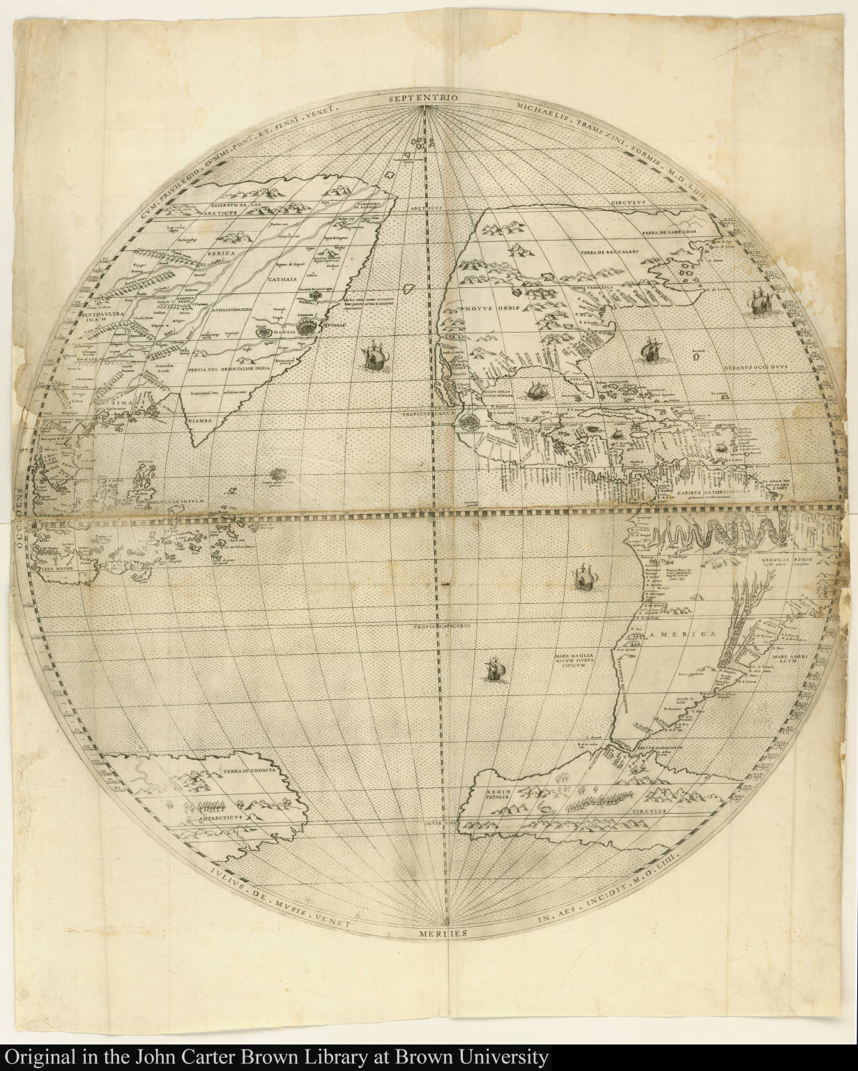 [Map of the world in hemispheres]