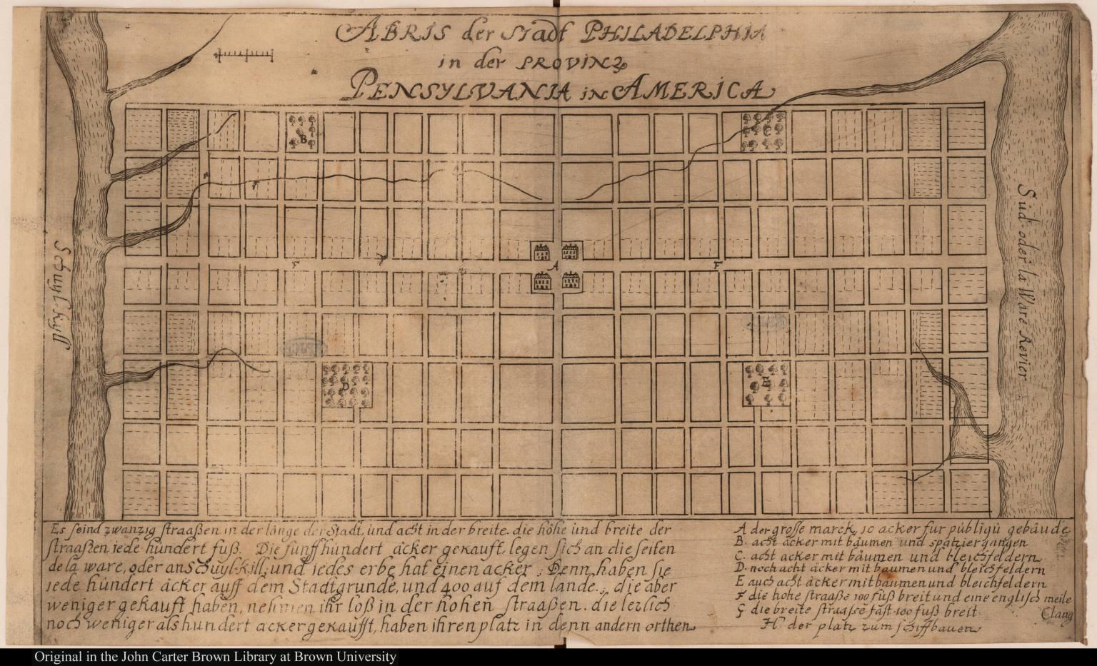 Abris der stadt Philadelphia in der provinz Pensylvania in America