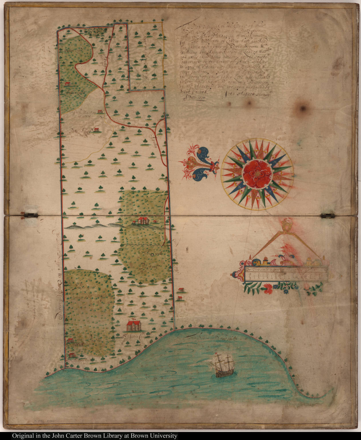 This plott representeth the forme of three hundred acres of Land part of a Plantation called the Fort Plantation of which 300 acres Cap. Thos. Middleton of London hath purchased ...