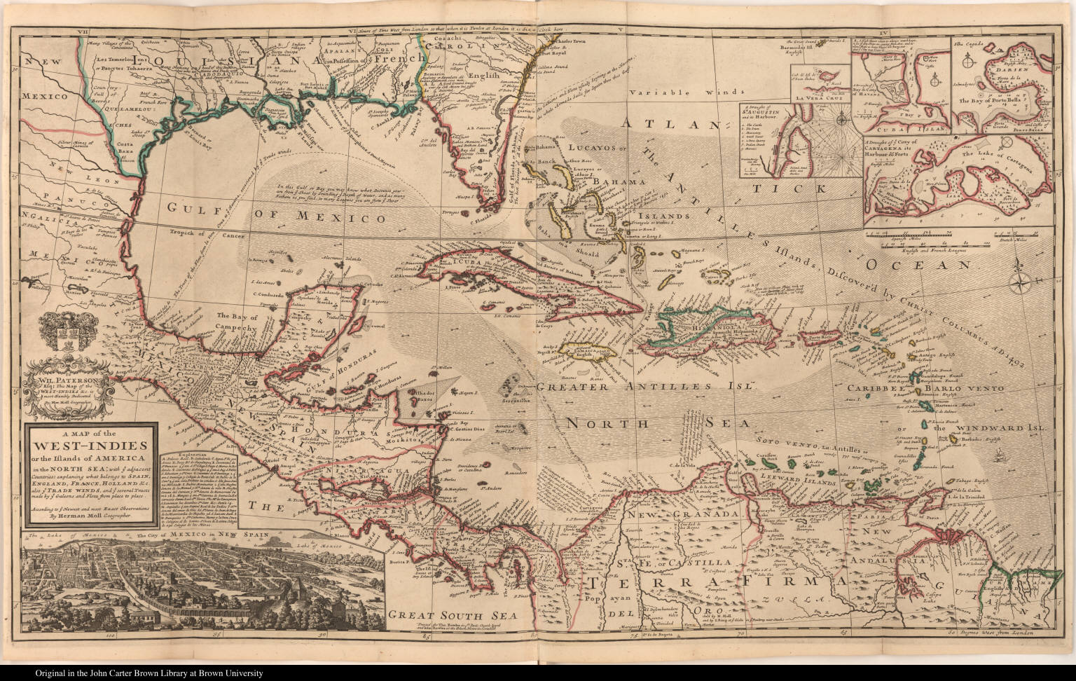 A Map of the West-Indies or the Islands of America ...