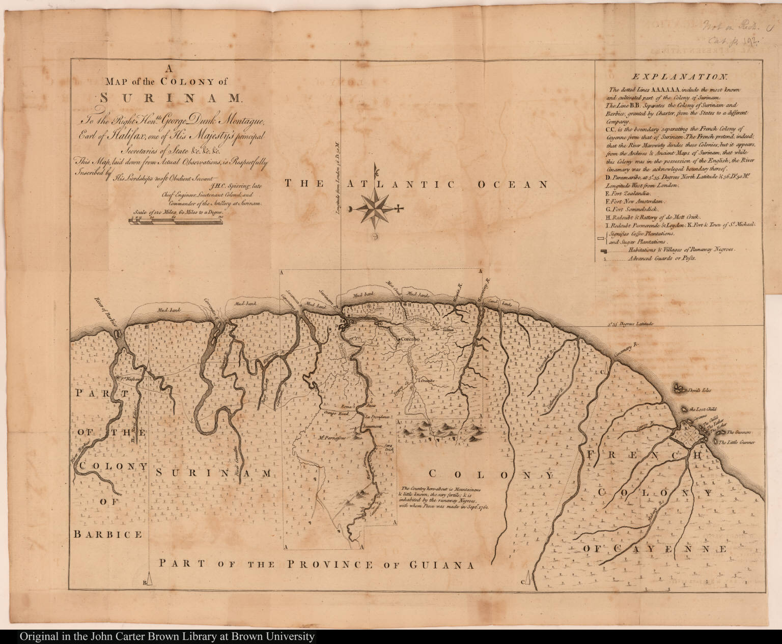 A Map of the Colony of Surinam. ...