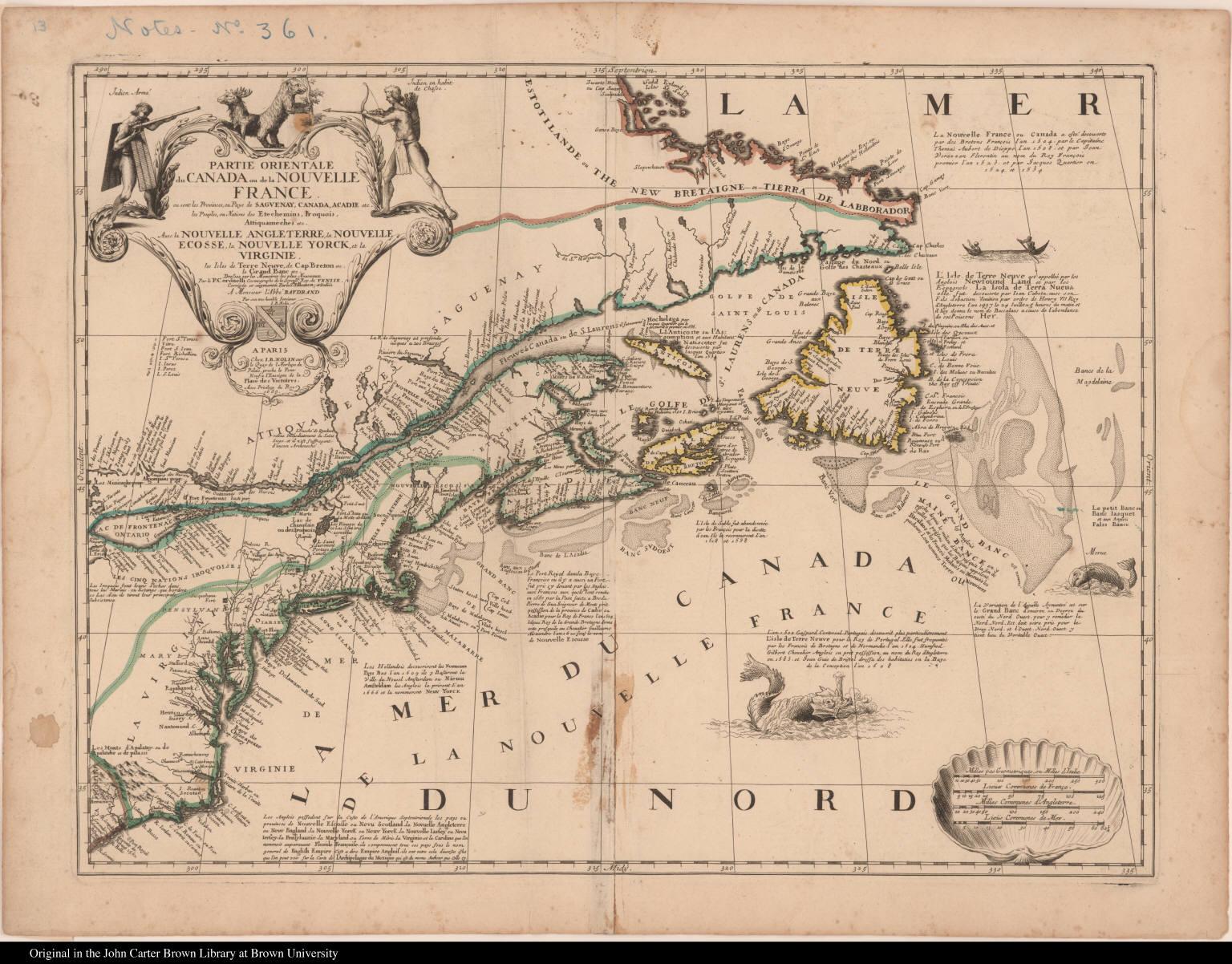 Partie orientale du Canada ou de la Nouvelle France ...