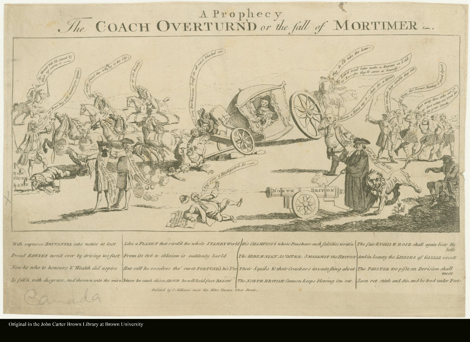A Prophesy. The COACH OVERTURN'D or the fall of MORTIMER.