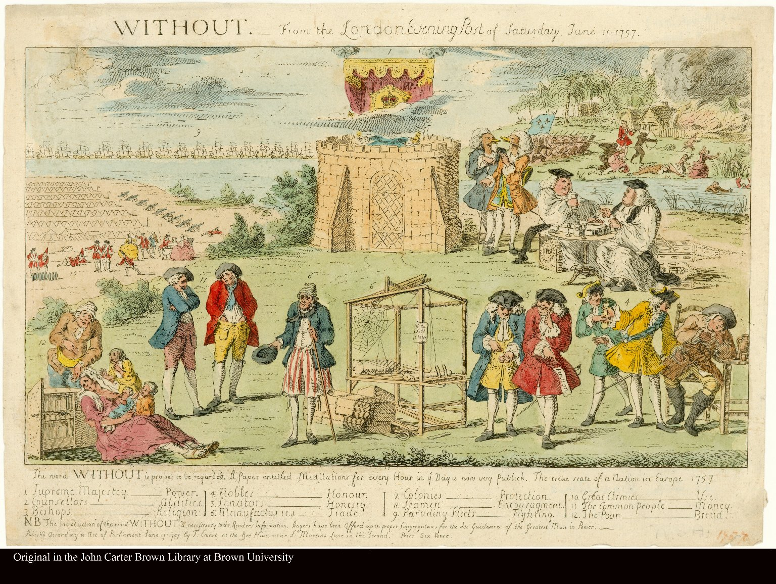 WITHOUT. From the London Evening Post of Saturday June 11, 1757.