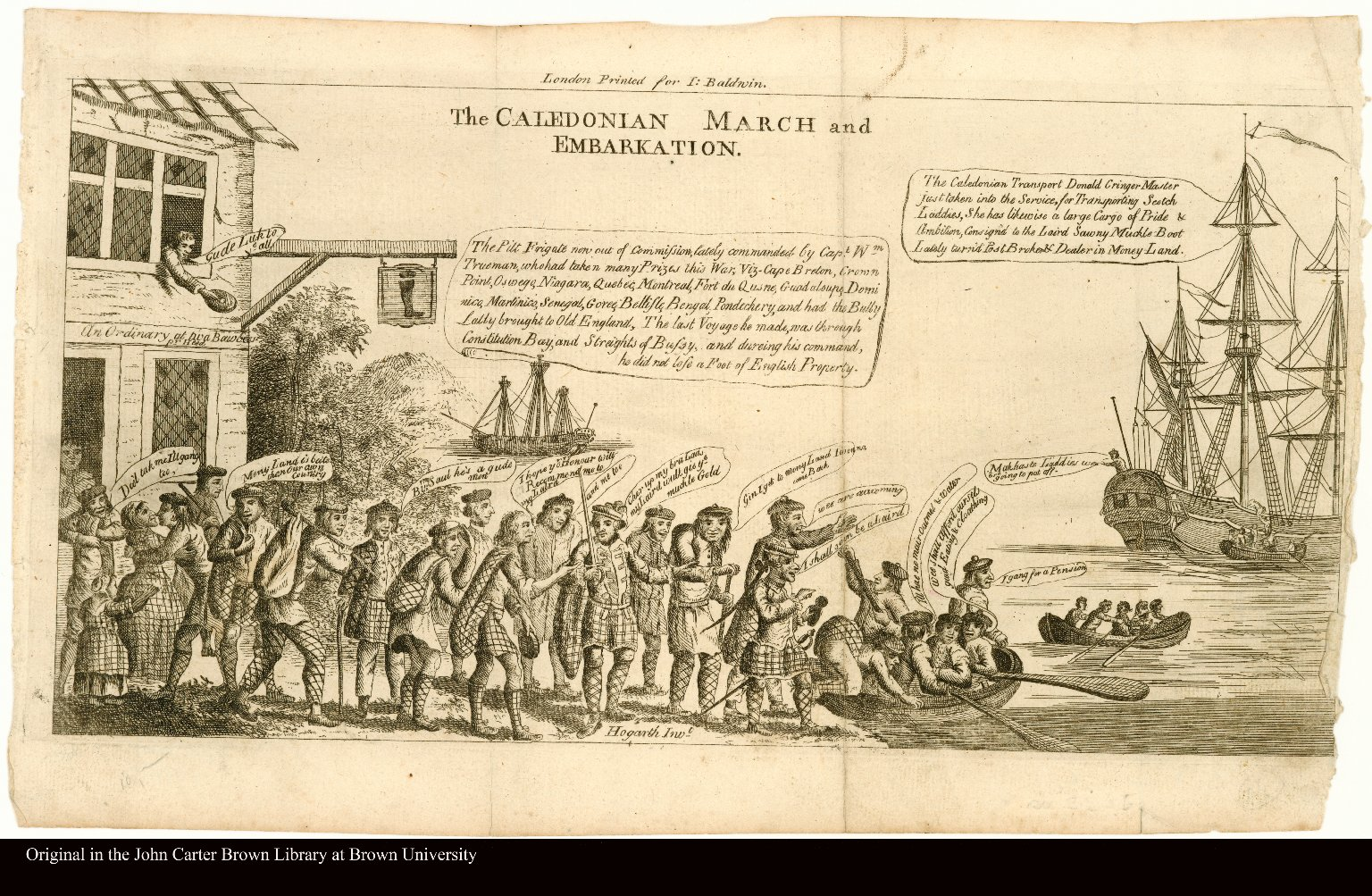The CALEDONIAN MARCH and EMBARKATION.