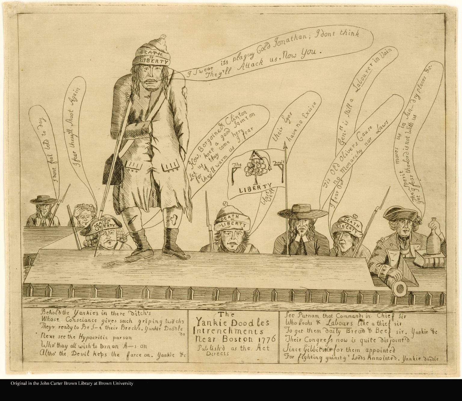The Yankie Doodles Intrenchments Near Boston 1776