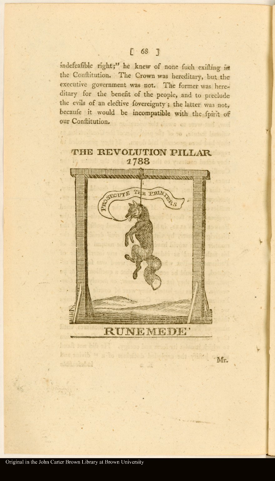 THE REVOLUTION PILLAR 1788