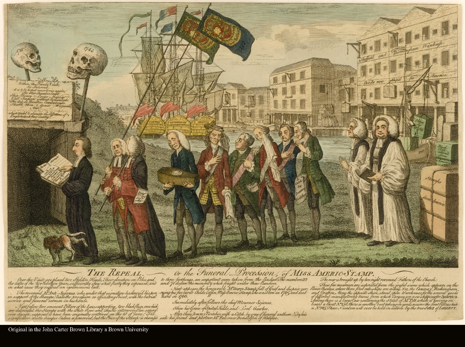 THE REPEAL. or the Funeral Procession, of MISS AMERIC-STAMP.