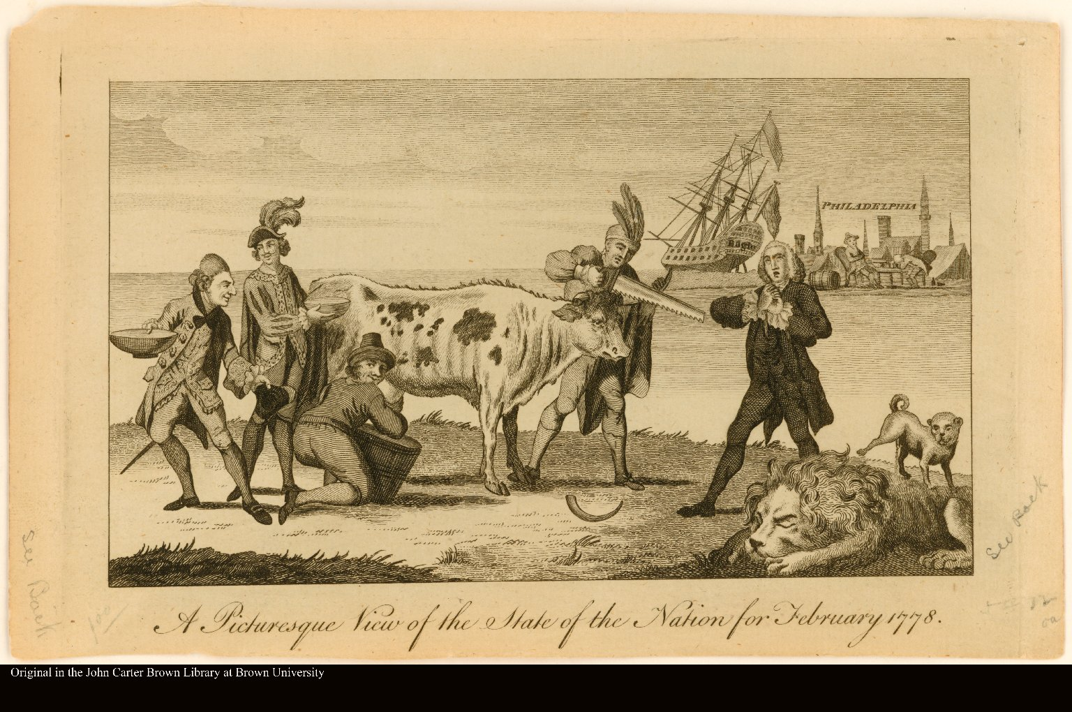 A PICTURESQUE VIEW OF THE STATE OF THE NATION FOR FEBRUARY 1778.