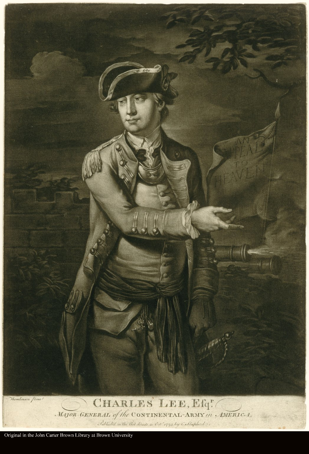 CHARLES LEE, ESQR. MAJOR GENERAL of the CONTINENTAL-ARMY in AMERICA.